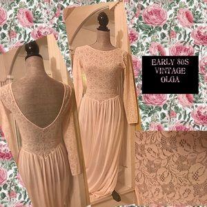 Other - 1980s True Vintage Olga Floor Length Glam Nightie